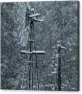 Southworth Windmill Snow Bound Canvas Print
