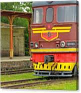 Soviet Era Train In Haapsalu Estonia Canvas Print