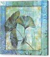 Spa Gingko Postcard 1 Canvas Print