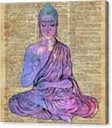 Space Buddha Dictionary Art Canvas Print
