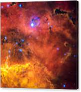 Space Image Red Orange And Yellow Nebula Canvas Print