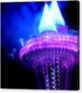 Space Needle Fireworks Canvas Print