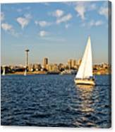 Space Needle Tack Canvas Print