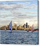 Space Needle Twilight Sail Canvas Print