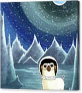 Space Pug  Canvas Print