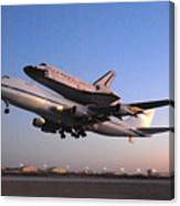 Space Shuttle Discovery Departs Edwards Afb September 20 2009 Canvas Print