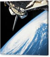 Space Shuttle In Outer Space Canvas Print