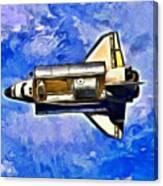Space Shuttle In Space - Da Canvas Print