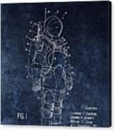 Space Suit Patent Illustration Canvas Print
