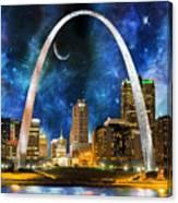 Spacey St. Louis Skyline Canvas Print