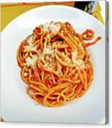 Spaghetti Bolognese Canvas Print