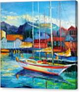 Spain Boats Canvas Print