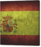 Spain Distressed Flag Dehner Canvas Print