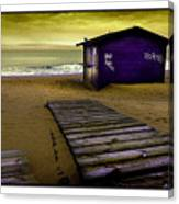Spanish Beach Hut Canvas Print
