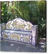 Spanish Bench Canvas Print