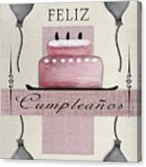 Spanish Birthday Greeting Card Canvas Print