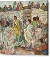 Spanish Manolas Outside The Bullring Canvas Print