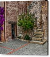 Spanish Mission's Back Entrance.  Canvas Print