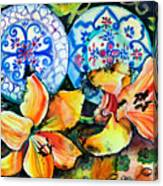 Spanish Plates Canvas Print