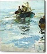 Spanish Recogiendo Canvas Print