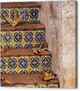 Spanish Tile Stair  Canvas Print