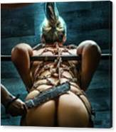 Spanking - Fine Art Of Bondage Canvas Print