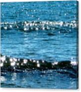 Sparkle Waves  Canvas Print