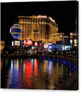 Sparkling Las Vegas Neon - Planet Hollywood Canvas Print