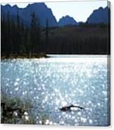 Sparkling Redfish Lake Canvas Print