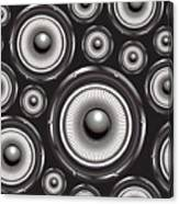 Speakers Over Black Canvas Print