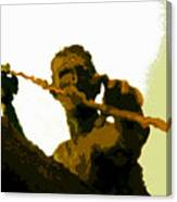 Spearfishing Man Canvas Print