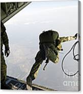 Special Operations Jumpers Exit A C-130 Canvas Print