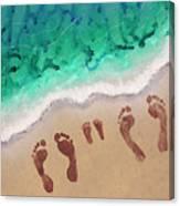 Speck Family Beach Feet Canvas Print