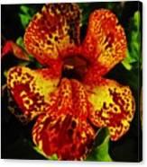 Speckled Petunia Canvas Print