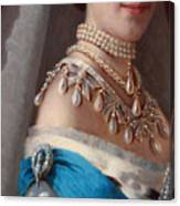 Historical Fashion, Royal Jewels On Empress Of Russia, Detail Canvas Print