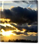 Spectacular Sunrise In Clouds Canvas Print