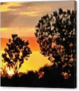 Spectacular Sunset In The Midwest Canvas Print