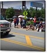 Spectators At A Parade  Canvas Print