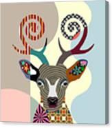 Spectrum Deer Canvas Print