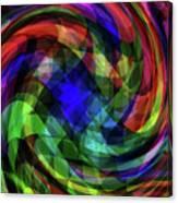 Spectrum Swirls Canvas Print