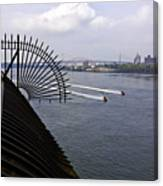 Speed Boats On The East River Canvas Print