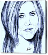 Speed Drawing Of Jennifer Aniston  Canvas Print