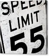 Speed Limit Canvas Print
