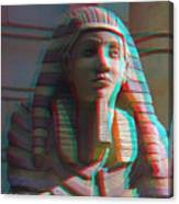 Sphinx - Use Red-cyan 3d Glasses Canvas Print