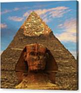 Sphinx And Pyramid Of Khafre Canvas Print