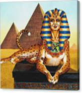 Sphinx On Plinth Canvas Print