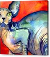 Sphynx Cat 6 Painting Canvas Print