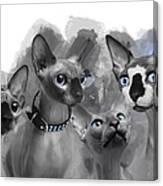 Sphynx Group No 02 Canvas Print