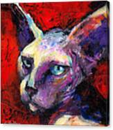 Sphynx Sphinx Cat Painting  Canvas Print