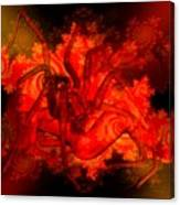 Spider Catches Virgin In Space Canvas Print